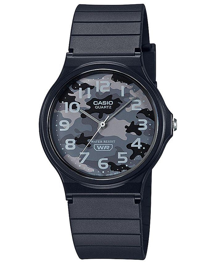 Casio - Men's Black Resin Strap Watch 35mm