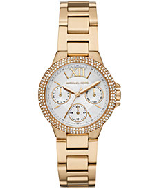 Michael Kors Camille Multifunction Gold-Tone Stainless Steel Watch
