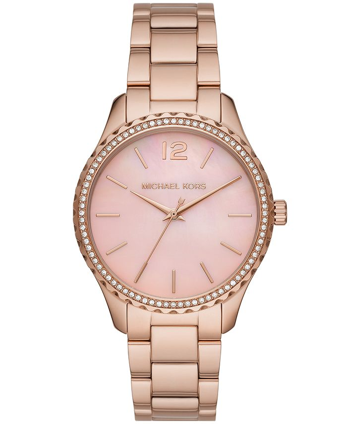 Michael Kors - Layton Three-Hand Rose Gold-Tone Stainless Steel Watch