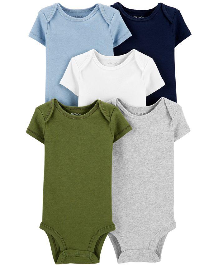 Carter's - Baby Boys 5-Pk. Cotton Multi-Color Bodysuits