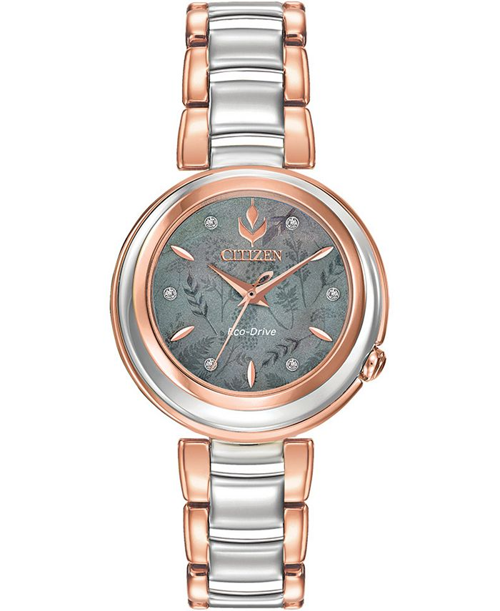 Citizen - Women's Anna Diamond-Accent Two-Tone Stainless Steel Bracelet Watch 31mm