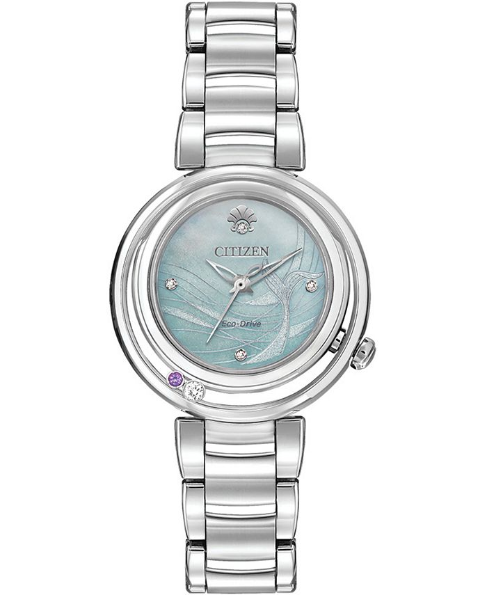 Citizen - Women's Ariel Diamond-Accent Stainless Steel Bracelet Watch 30mm