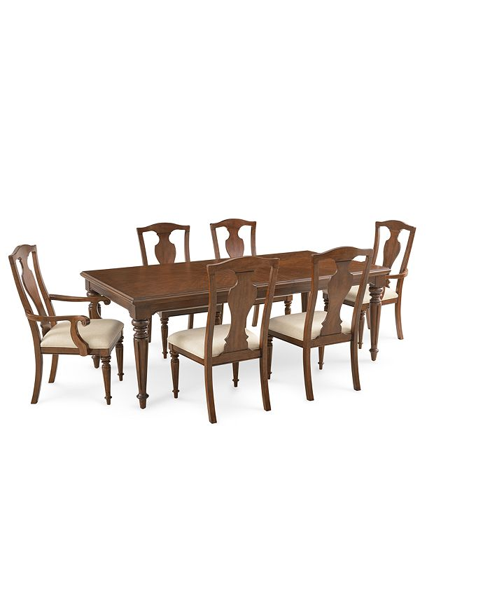 Furniture - Orle Dining , 7 pc Set (Dining Table & 4 Side Chairs & 2 Arm Chairs)