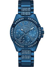 GUESS Unisex Blue Stainless Steel Bracelet Watch 40mm