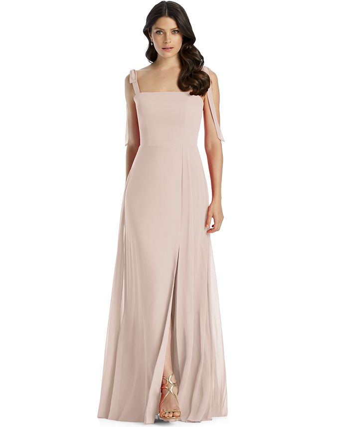 Dessy Collection - Tie-Strap Chiffon Gown