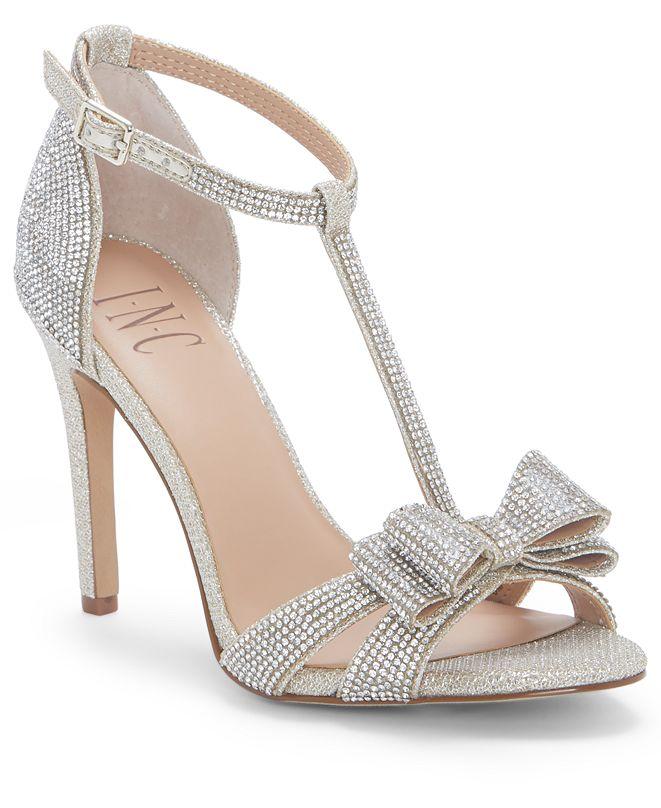 INC International Concepts INC Women's Reesie Rhinestone Bow Evening Sandals, Created for Macy's