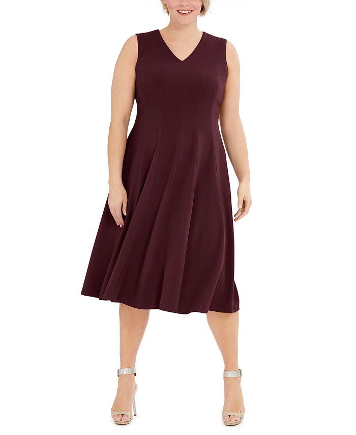 Calvin Klein - Plus Size Fit & Flare Midi Dress