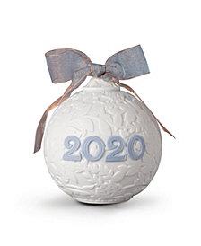 Lladro Collectible Figurine, 2020 Blue Christmas Ball