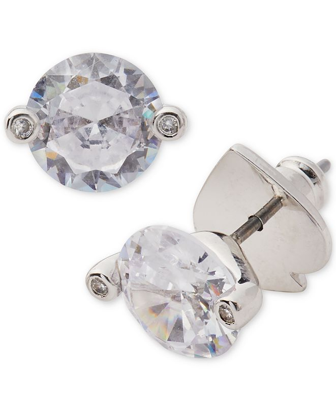 kate spade new york Silver-Tone Cubic Zirconia 2-Prong Stud Earrings