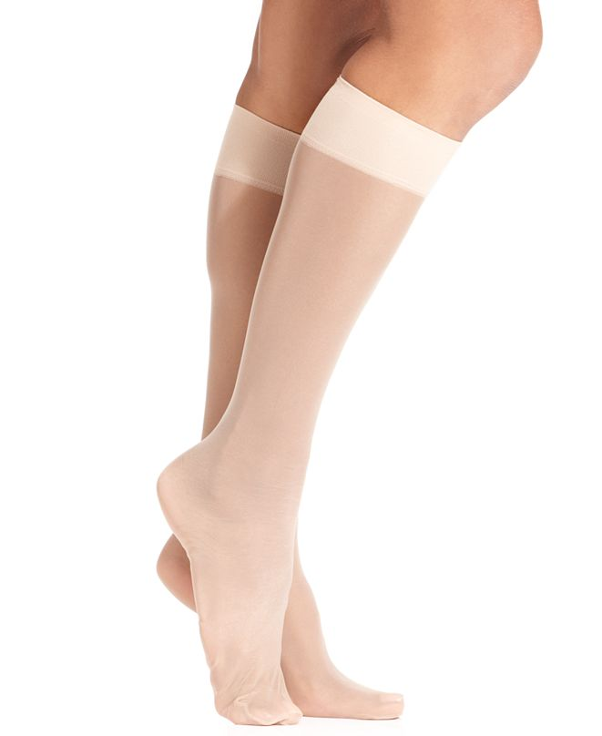Hue Women's Sheer Knee High Trouser 2 Pack Socks