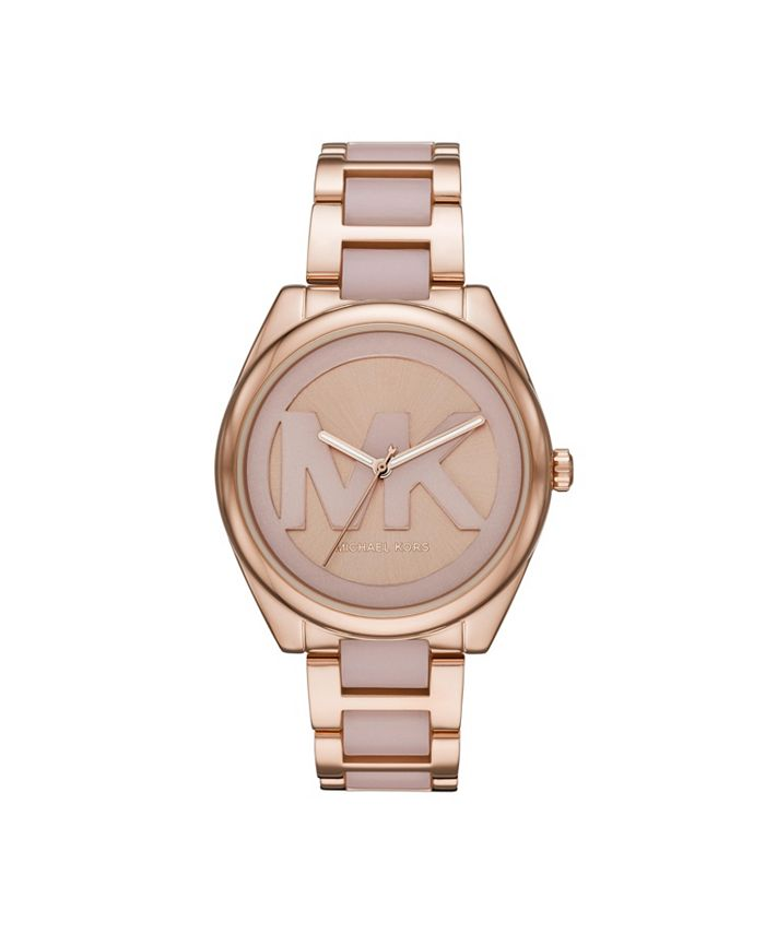 Michael Kors - Women's Janelle Three-Hand Two-Tone Stainless Steel Bracelet Watch 42mm MK7135