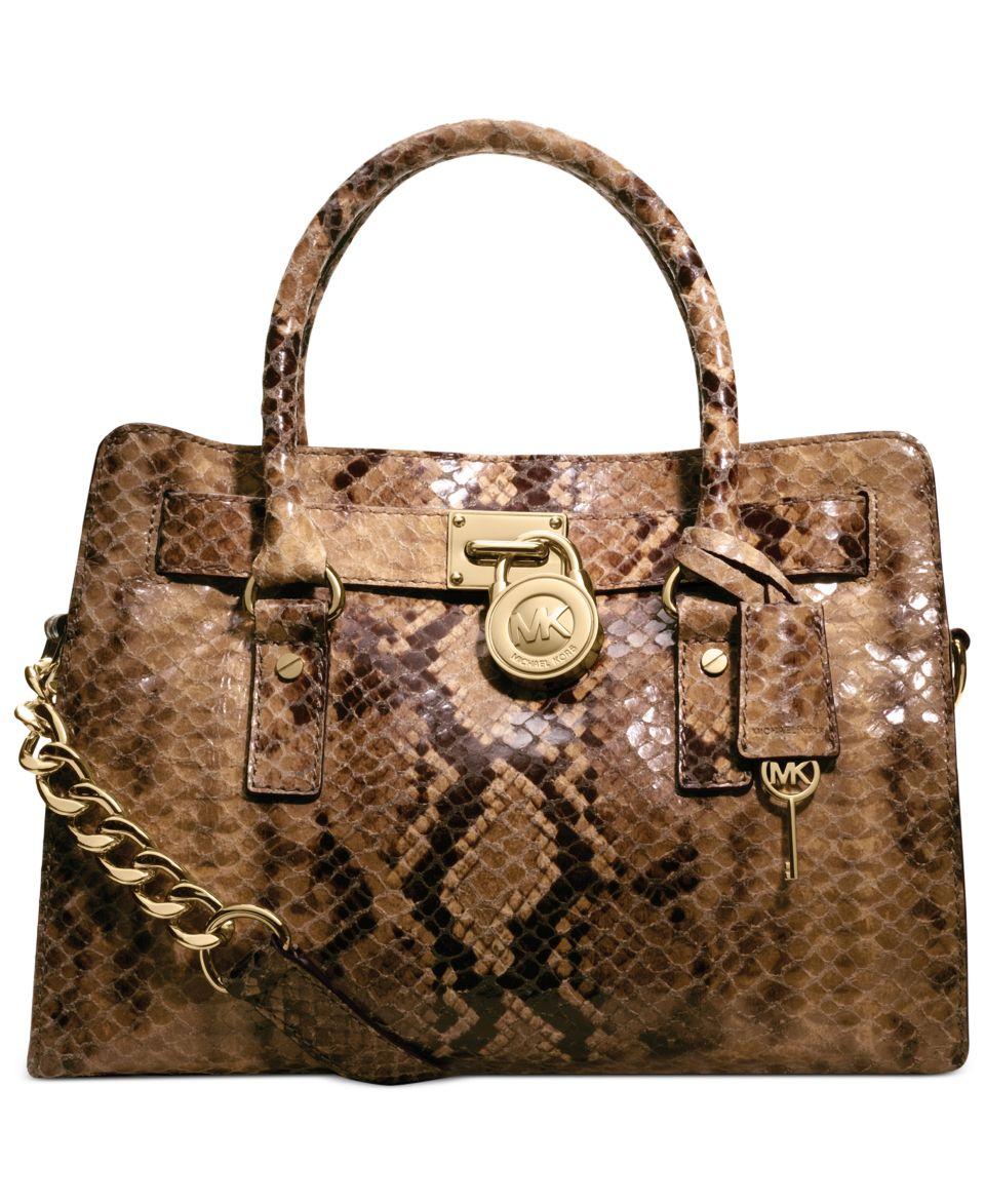 b617c8139e91 MICHAEL Michael Kors Hamilton Large Python North South Tote Handbags &  Accessories