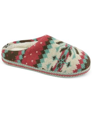 Muk Luks Faux-Fur Scuff Slippers Womens Shoes