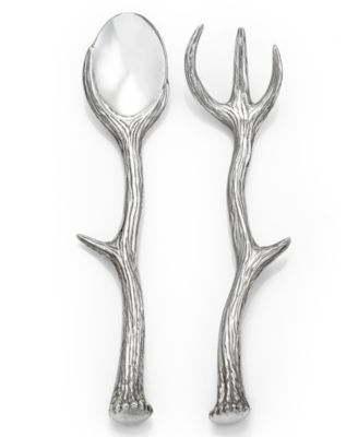 Arthur Court Serveware, Antler Serving Set - Set/2