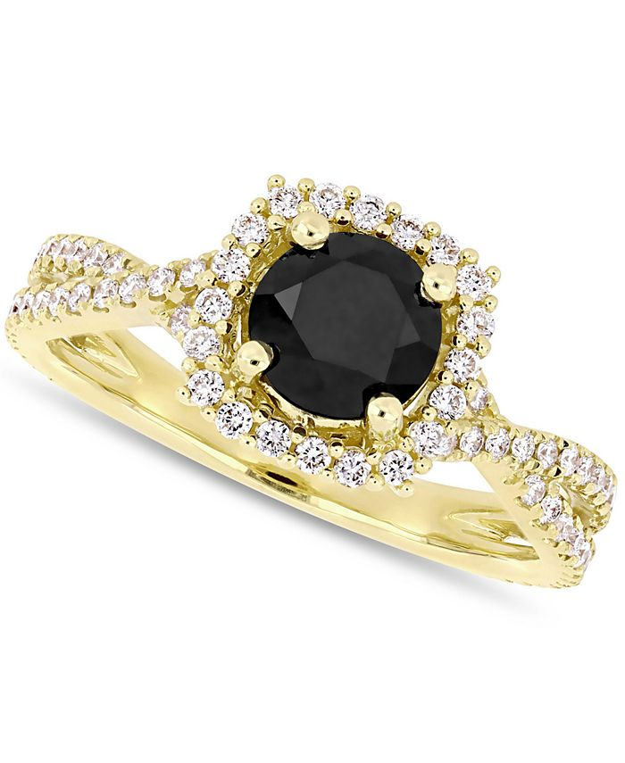 Macy's - Diamond Halo Engagement Ring (1-1/2 ct. t.w.)