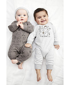 Carter's Baby Boys 3-Pc. Printed Coveralls & Hat Set