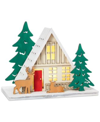 Chalet You Stay, Cabin with LED, Created for Macy's