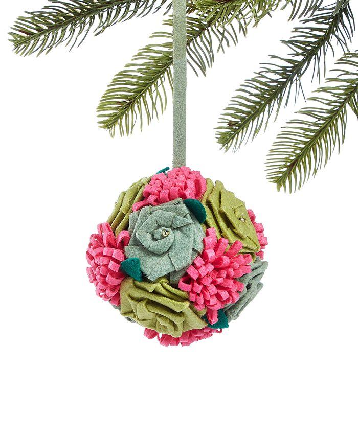 Holiday Lane - Bugs & Botanical Flower Ball Ornament