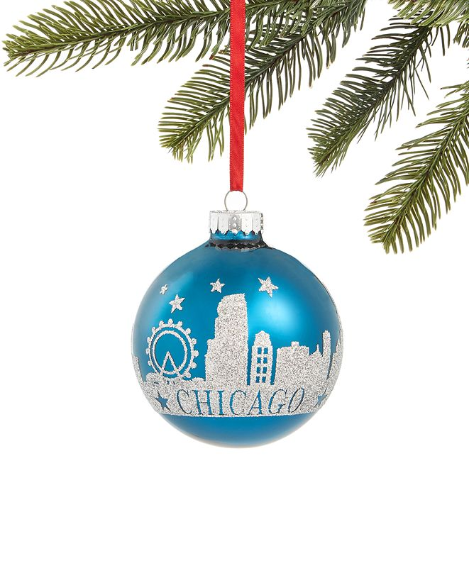 Holiday Lane Chicago Skyline Ornament, Created for Macy's