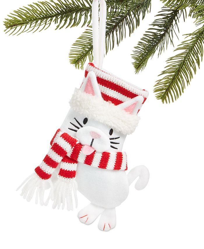 Holiday Lane - Pets Felt Cat Stocking Ornament