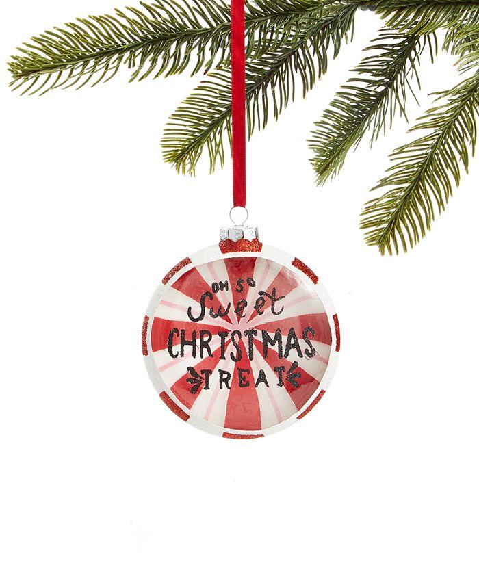 Holiday Lane - Peppermint Twist Ball Ornament