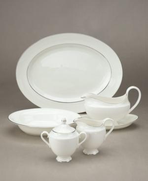 "Wedgwood ""Signet Platinum"" Large Oval Platter"
