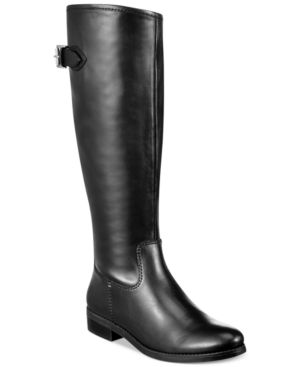 Tommy Hilfiger Dexter2 Wide Calf Tall Riding Boots Womens Shoes