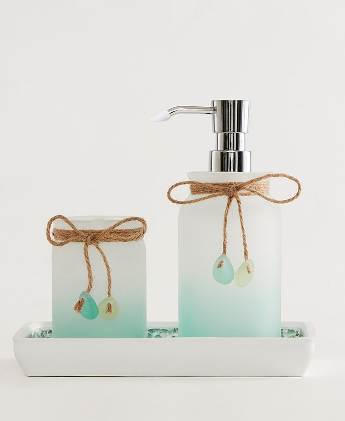 Indecor Home Sea Glass 3 Pc Bath Accessory Set Reviews Bathroom Accessories Bed Macy S