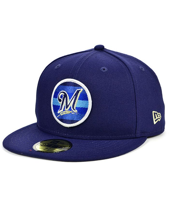 New Era - Men's Milwaukee Brewers Circle Fade 59FIFTY-FITTED Cap