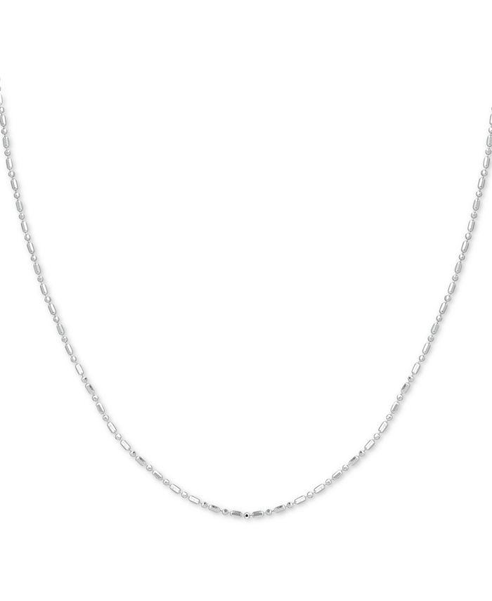 Giani Bernini - Sterling Silver Necklace, Dot Dash Chain