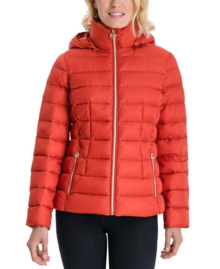 Michael Kors - Hooded Packable Down Puffer Coat