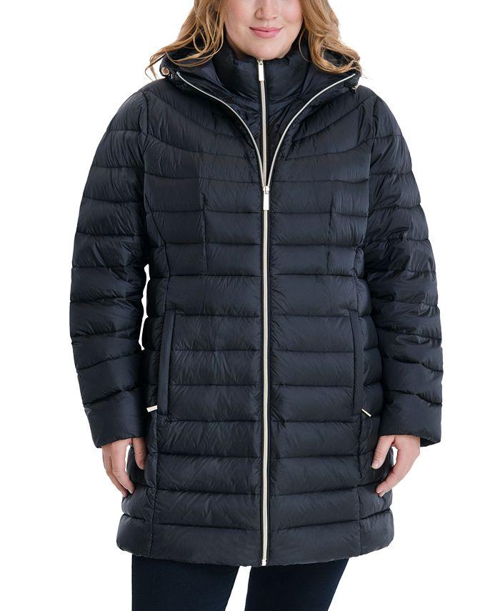 Michael Kors - Plus Size Hooded Packable Puffer Coat