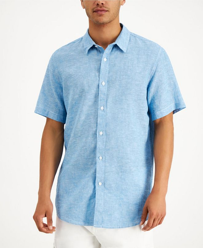 Sun + Stone Men's Linen Shirt, Created for Macy's