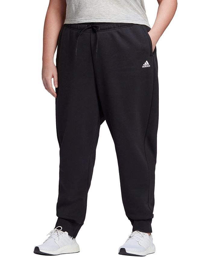 adidas - Plus Size Logo Fleece Jogger Pants