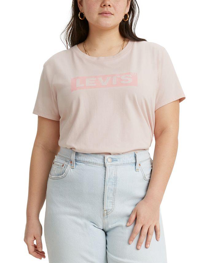 Levi's - Trendy Plus Size Cotton Perfect Logo T-Shirt