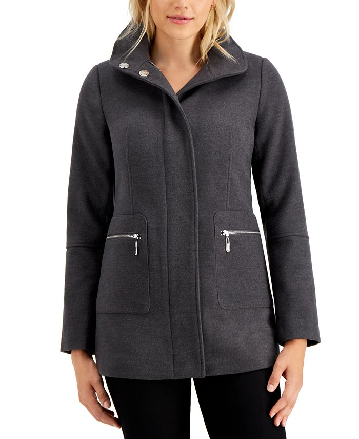 Maralyn & Me - Juniors' Stand-Collar Coat