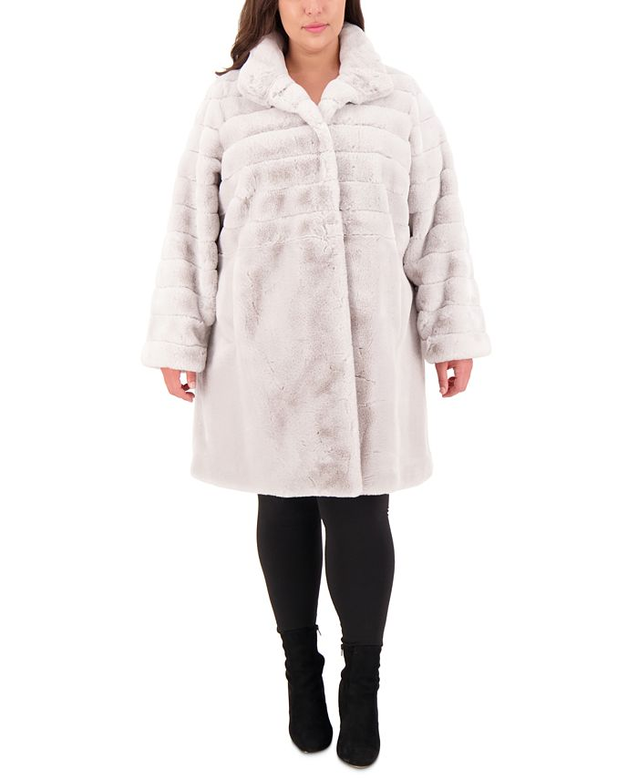 Jones New York - Plus Size Faux-Fur Coat