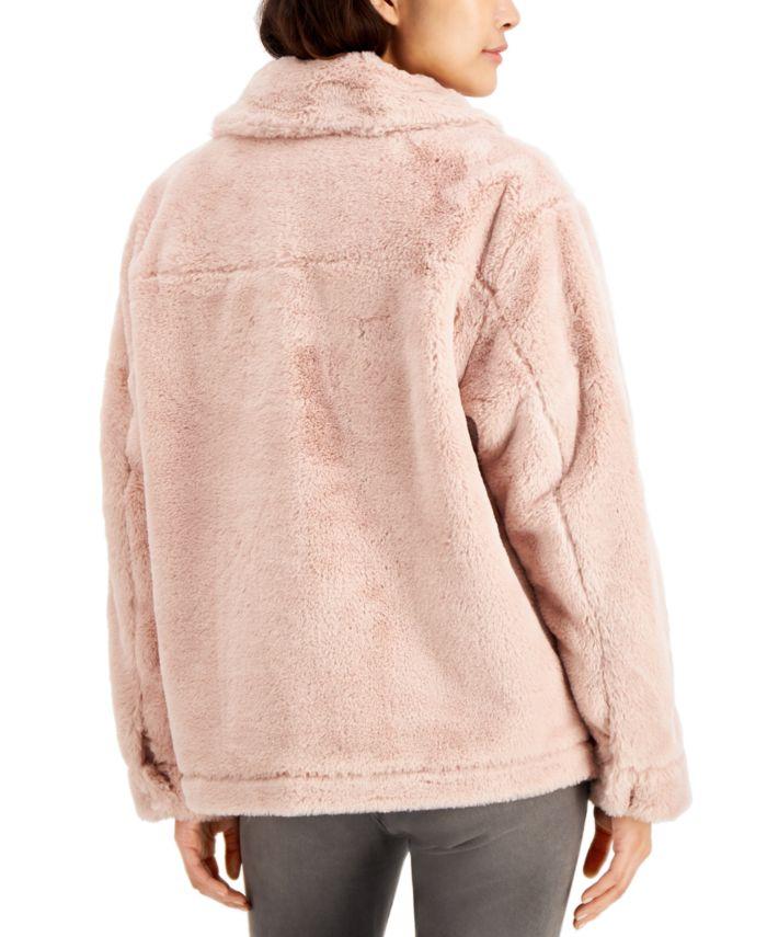 Jou Jou Juniors' Faux-Fur Coat & Reviews - Coats - Women - Macy's