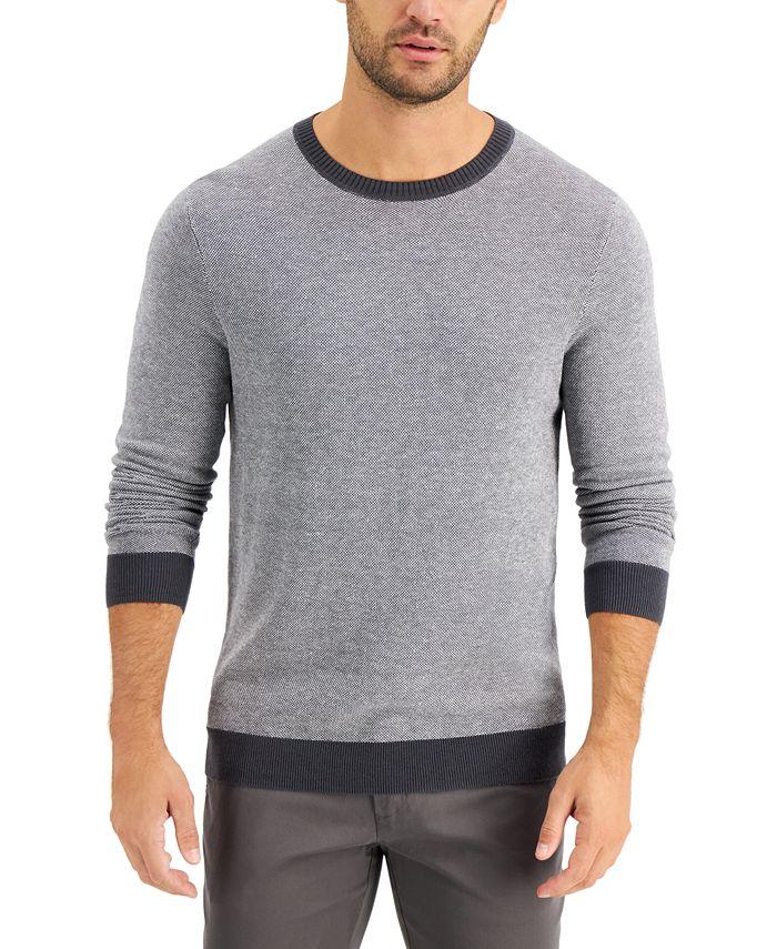 Tasso Elba - Men's Colorblocked Crewneck Sweater, Created for Macy's