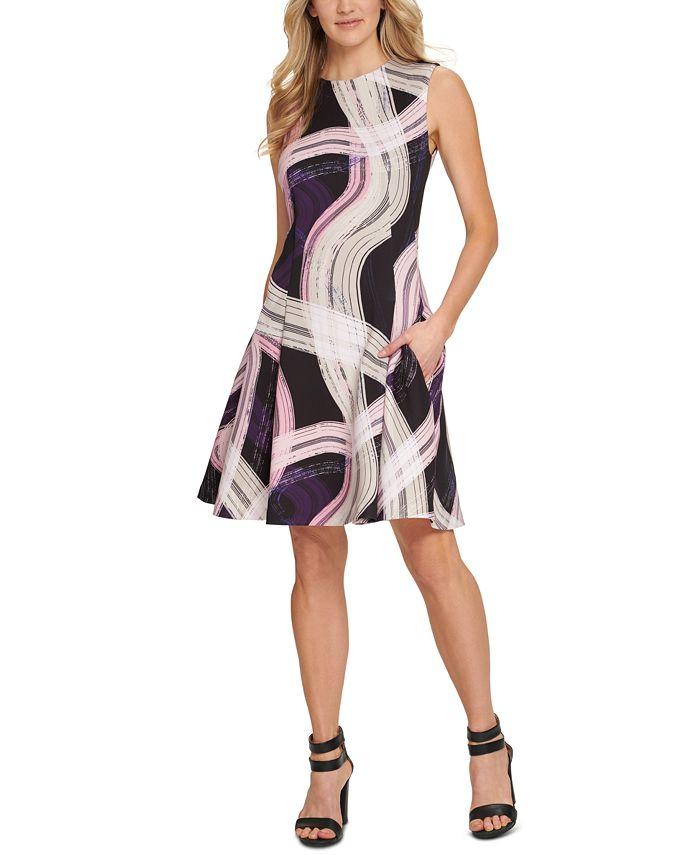 DKNY - Sleeveless Fit & Flare Dress