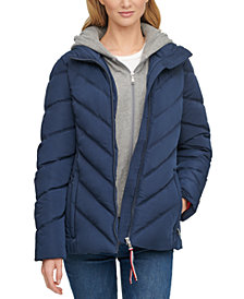 Tommy Hilfiger Hoodie Puffer Coat, Created for Macy's
