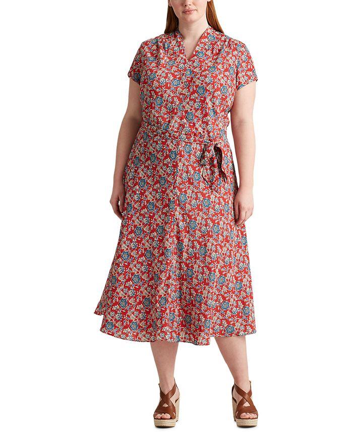 Lauren Ralph Lauren - Plus Size Floral Midi Dress
