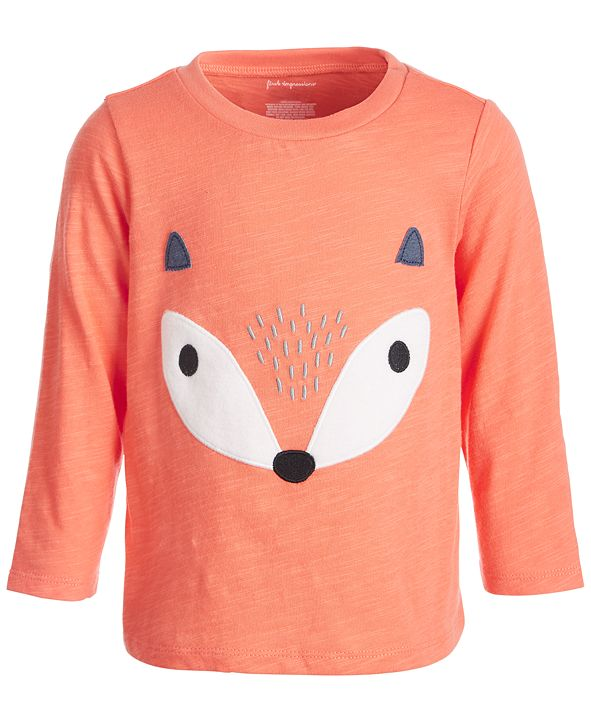 First Impressions Baby Boys Fox Face Tee, Created for Macy's