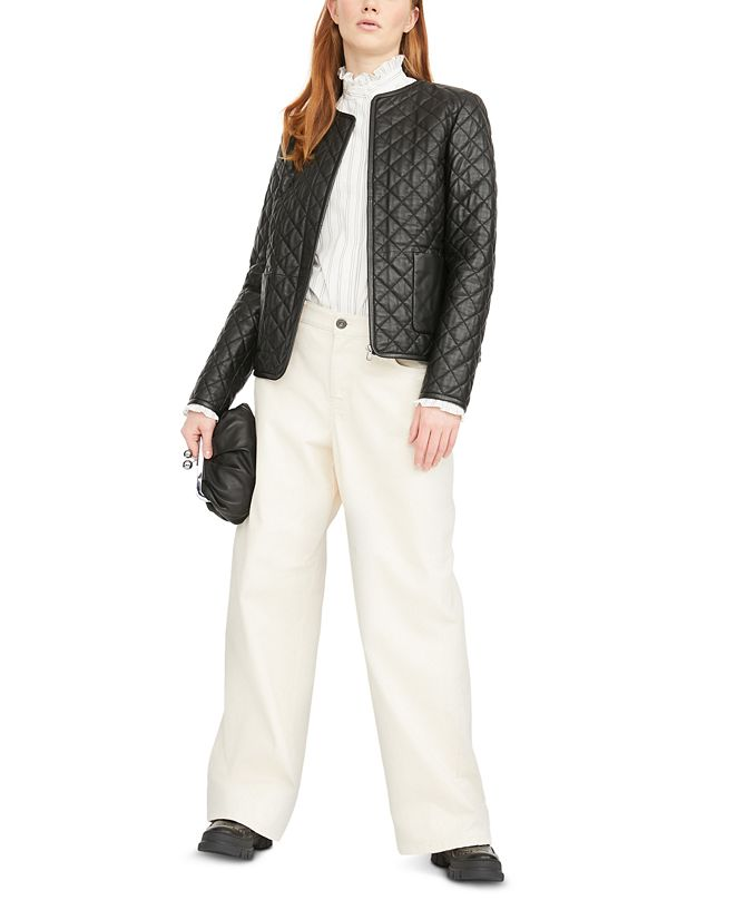 Weekend Max Mara Leather Quilted Jacket