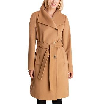Michael Kors Asymmetrical Belted Coat