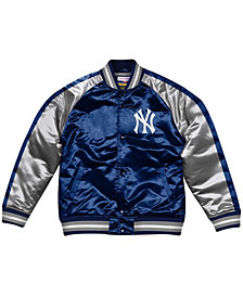Mitchell & Ness Men's New York Yankees Color Blocked Satin Jacket