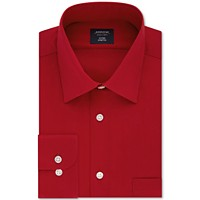 Deals on Arrow Mens Fitted Non-Iron Performance Stretch Solid Dress Shirt