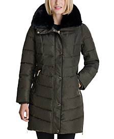 MICHAEL Michael Kors Faux-Fur Collar Down Puffer Coat, Created for Macy's