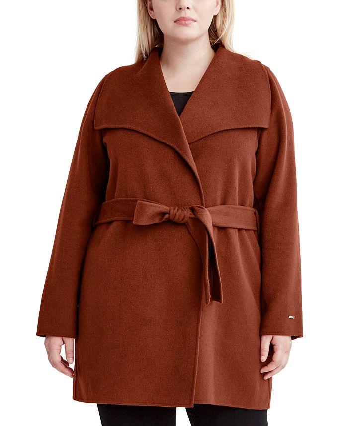 Tahari - Plus Size Ella Wrap Coat