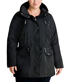 Michael Michael Kors Plus Size Hooded Anorak Jacket, Created for Macy's